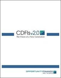 CDFIs 2.0 cover